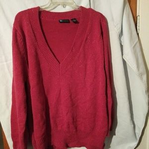 Womens 3X red sweater with sparkles